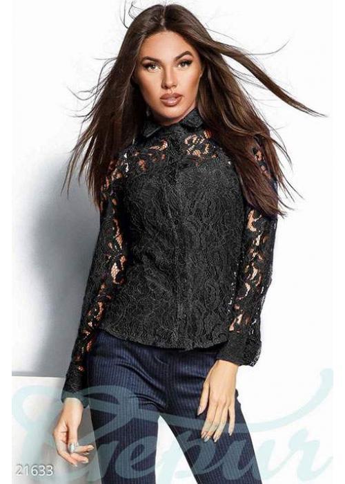 Прозрачная гипюровая блуза 21633 купить по цене 995 грн. в Украине — интернет-магазин Modesti