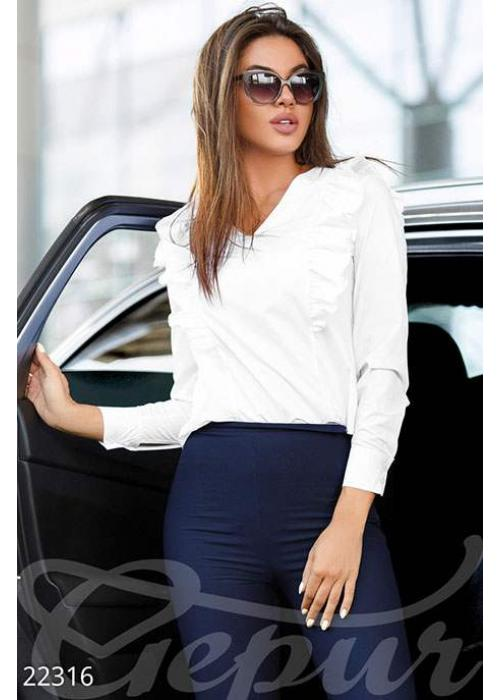 Блуза с рюшами 22655 купить по цене 675 грн. в Украине — интернет-магазин Modesti