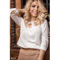 Блуза шифоновая белая