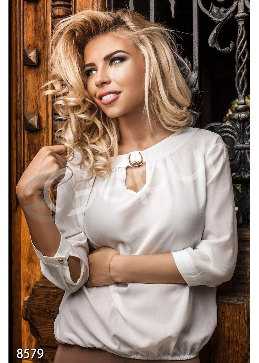 d89f0b11d9c ... Блуза шифоновая белая 8579 купить по цене 565 грн. в Украине — интернет- магазин ...