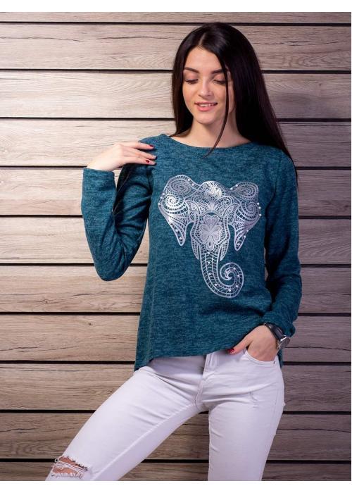 Мягкая кофта с принтом Слон 2112-z купить по цене 305 грн. в Украине — интернет-магазин Modesti