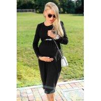 Теплое платье беременной