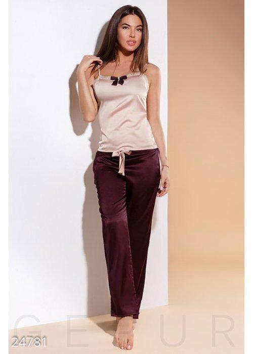 Соблазнительная атласная пижама 24781 купить по цене 910 грн. в Украине — интернет-магазин Modesti