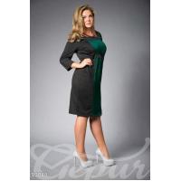 Элегантное черное платье с высокой талией