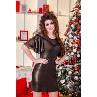 Золотое платье-мини