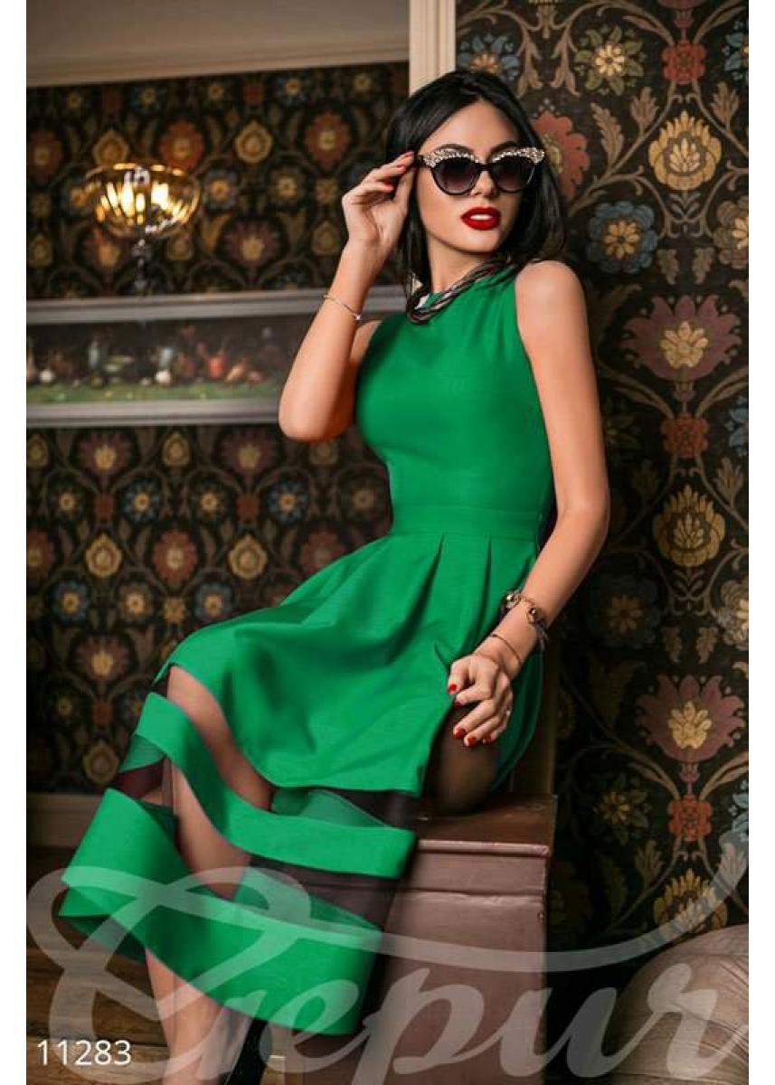 3e8f85f66fe Платье габардин зеленое 11283 купить по низкой цене в Украине ...