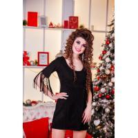 Замшевое платье с изюминкой