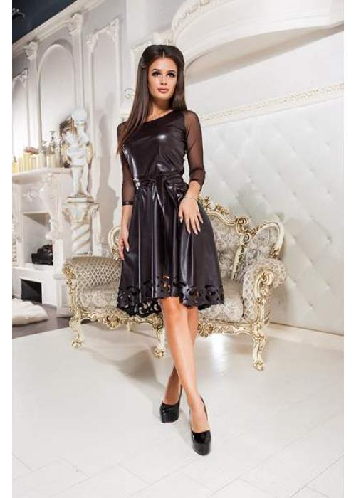 Кожаное платье с перфорацией