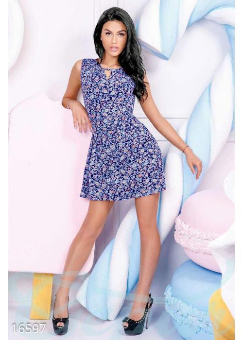 Цветастое летнее платье 16597 купить по низкой цене в Украине — интернет-магазин Modesti