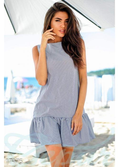 Стильное полосатое платье 17175 купить по низкой цене в Украине — интернет-магазин Modesti