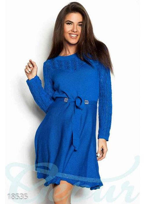Расклешенное вязаное платье 18535 купить по низкой цене в Украине — интернет-магазин Modesti
