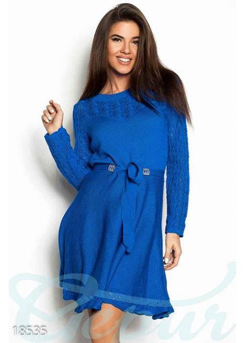 Расклешенное вязаное платье 18535 купить по цене 780 грн. в Украине — интернет-магазин Modesti