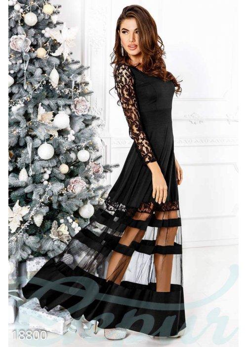 Вечернее платье сетка