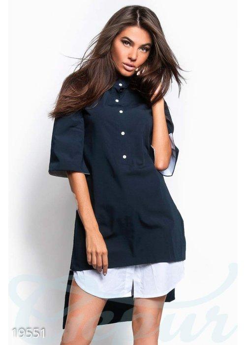 Асимметричное платье рубашка 19551 купить по низкой цене в Украине — интернет-магазин Modesti