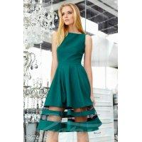 Платье габардин сетка