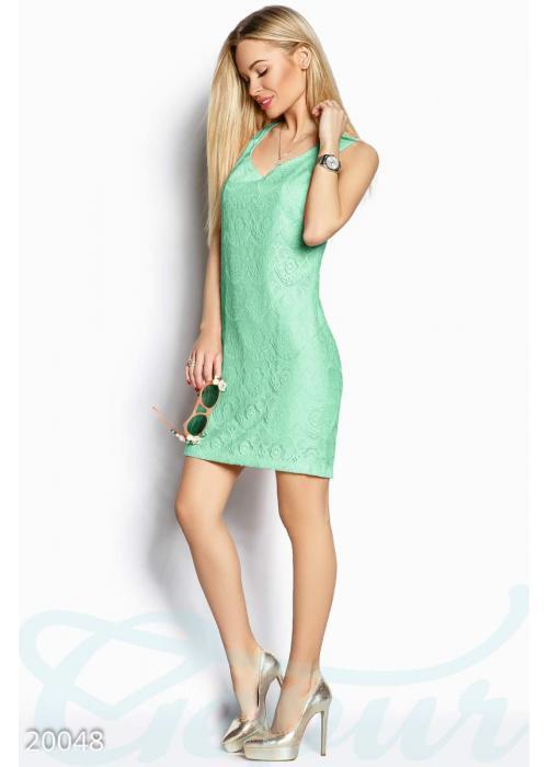 Гипюровое платье трапеция