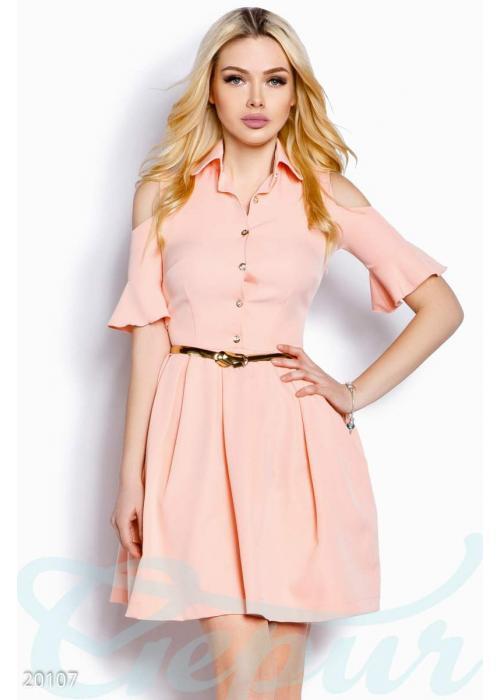 Платье открытыми плечами 20107 купить по цене 880 грн. в Украине — интернет-магазин Modesti