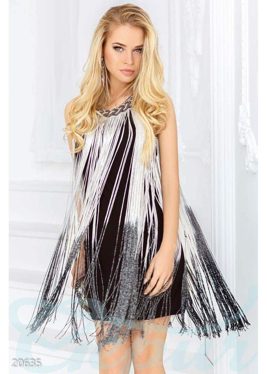Коктейльное платье бахрома 20635 купить по низкой цене в Украине ... 8278bb75df6
