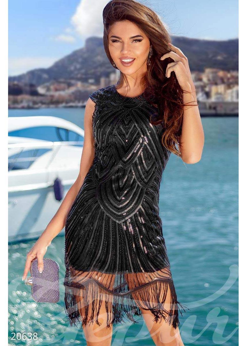 Коктейльное платье пайетки 20638 купить по низкой цене в Украине ... 68c140224e0