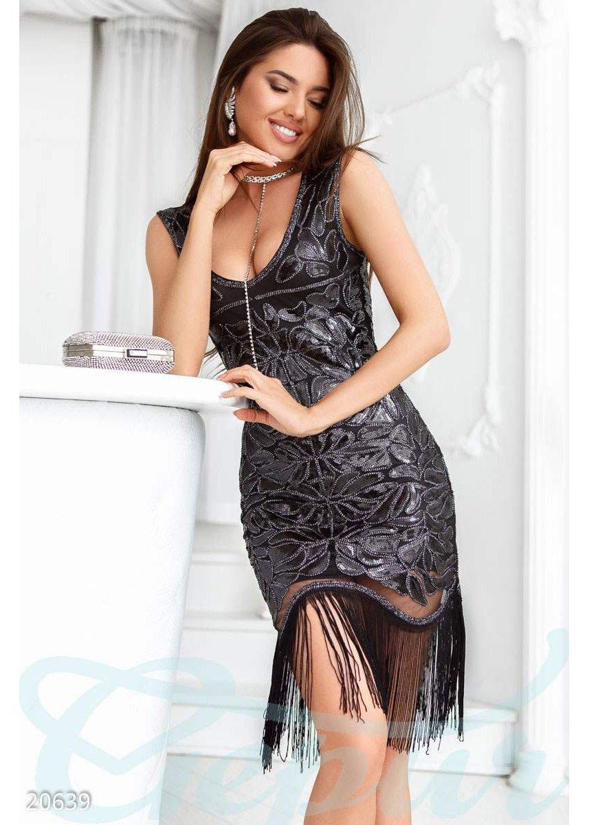 Игривое платье бахрома 20639 купить по низкой цене в Украине ... a2103647661