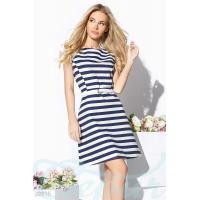Джинсовое платье полоска