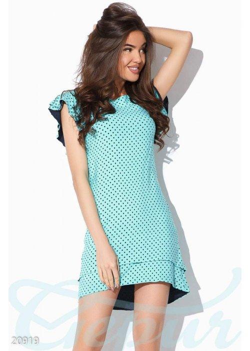 Платье двухъярусный подол