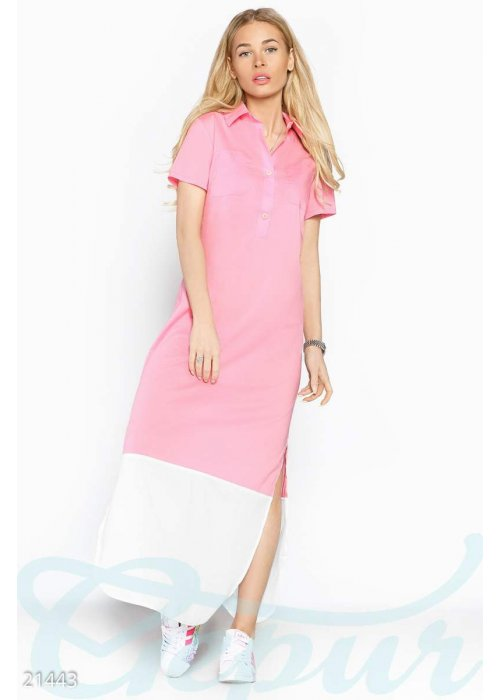 Платье рубашка макси 21443 купить по низкой цене в Украине — интернет-магазин Modesti