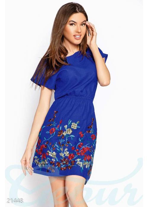 Короткое платье вышивка 21448 купить по низкой цене в Украине — интернет-магазин Modesti