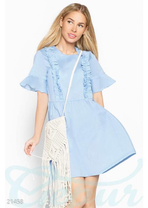 Летнее платье рюши