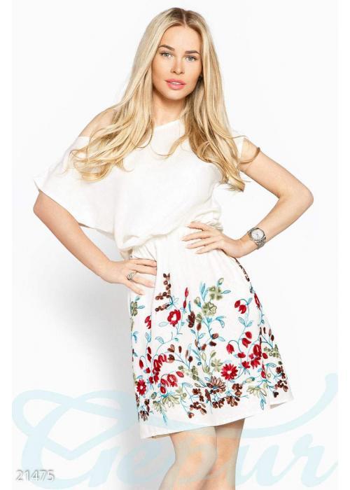 Короткое платье вышивка 21475 купить по цене 800 грн. в Украине — интернет-магазин Modesti