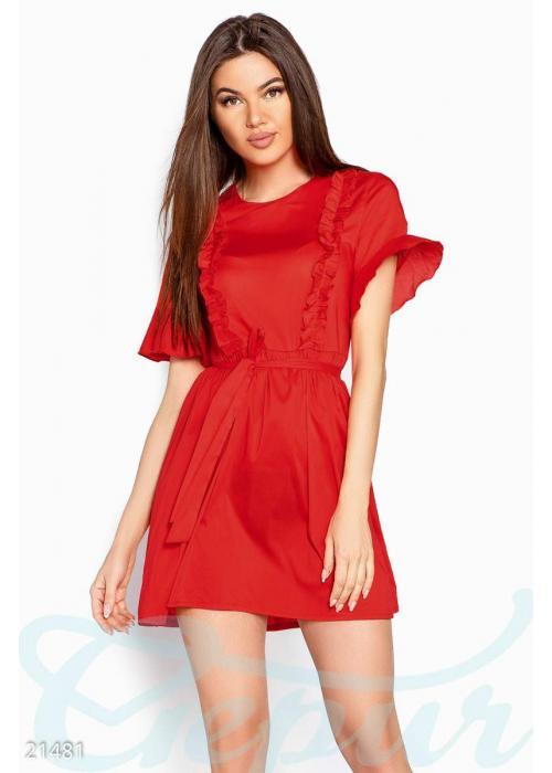 Летнее платье рюши 21481 купить по цене 790 грн. в Украине — интернет-магазин Modesti