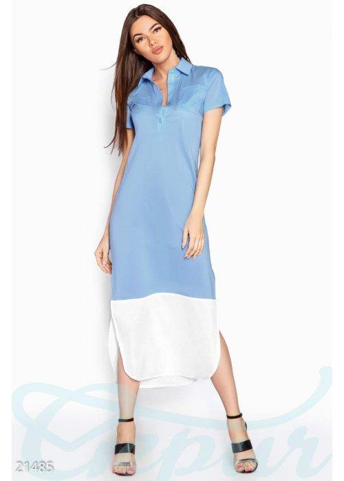 Платье рубашка макси 21485 купить по цене 785 грн. в Украине — интернет-магазин Modesti