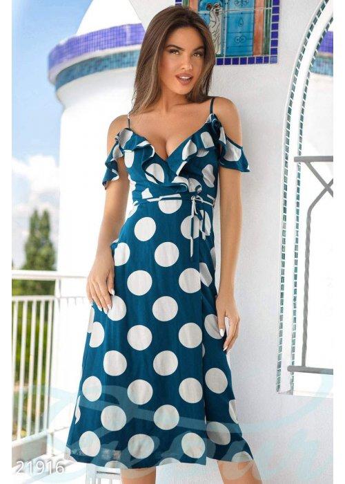 Женственный сарафан горошек 21916 купить по низкой цене в Украине — интернет-магазин Modesti
