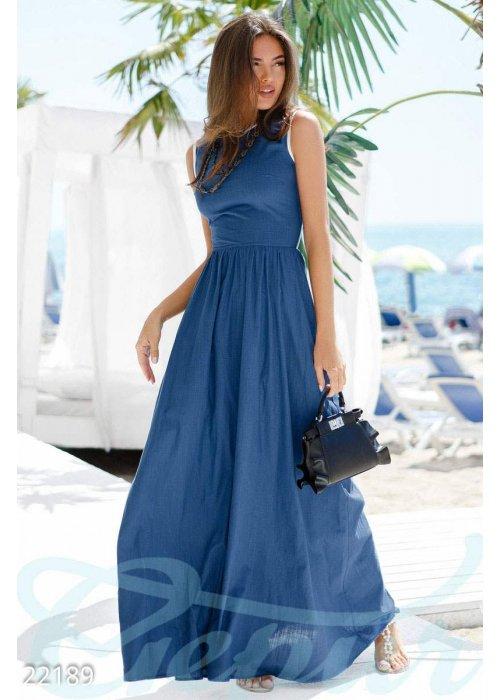 Длинное льняное платье 22189 купить по цене 795 грн. в Украине — интернет-магазин Modesti
