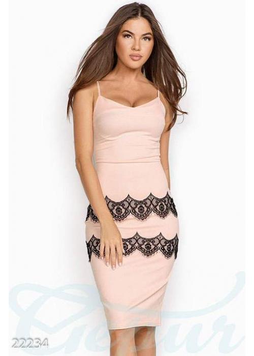 Кружевное коктейльное платье 22234 купить по низкой цене в Украине — интернет-магазин Modesti