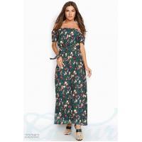 Цветочное платье макси