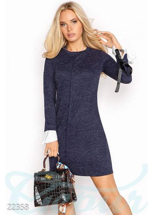 Ангоровое платье-трапеция