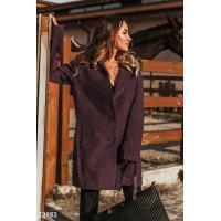 Кашемировое пальто сливового оттенка
