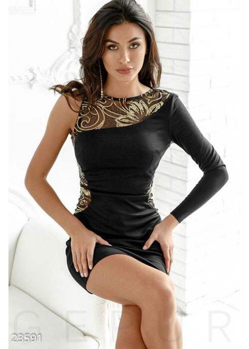 Изысканное коктейльное платье