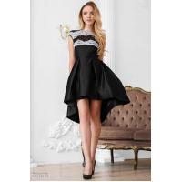 Каскадное вечернее платье