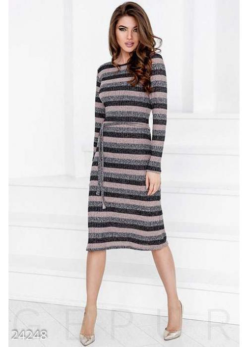 Вязаное платье-миди 24257 купить по цене 897 грн. в Украине — интернет-магазин Modesti