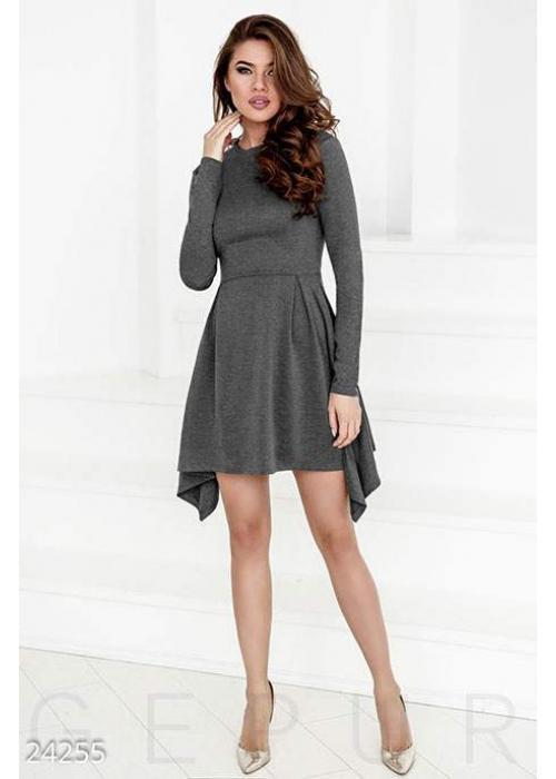 Короткое асимметричное платье