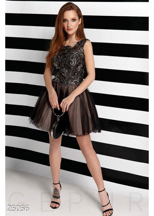 Двухцветное вечернее платье 25056 купить по цене 4 000 грн. в Украине — интернет-магазин Modesti