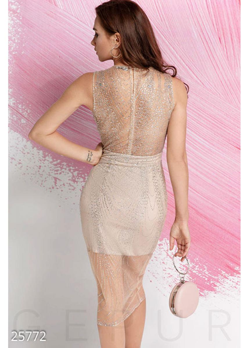 Изящное платье-сетка 25772 купить по низкой цене в Украине ... 28274ca4022
