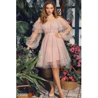 Воздушное платье с воланом