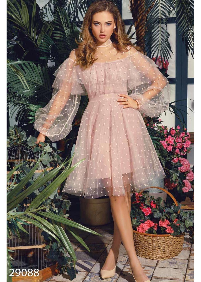 1a305213251 Воздушное платье с воланом 29088 купить по низкой цене в Украине ...