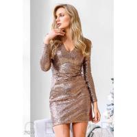 Облегающее платье с пайетками
