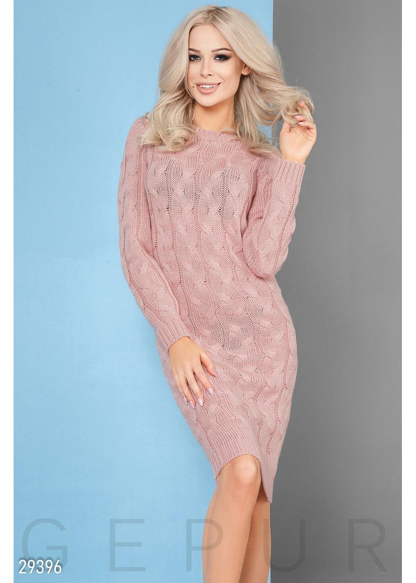 173b342583d Теплое вязаное платье 29396 купить по низкой цене в Украине ...