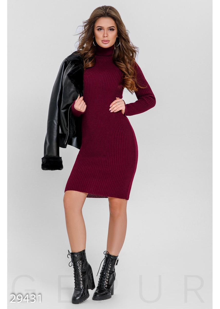 cd944586d25 Однотонное вязаное платье 29431 купить по низкой цене в Украине ...