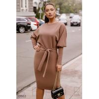 Платье с объемным рукавом